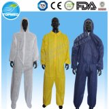 Wegwerfchemischer schützender Overall der schutzkleidung-SMS