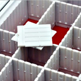 Caixa de selo média de alumínio de 8 compartimentos ajustáveis para o armazenamento do selo