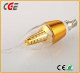シャンデリアLEDランプのためのLEDのフィラメントの球根ランプ4W E14 E27 C35 C37 LEDの蝋燭ライト
