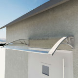 baldacchino esterno del balcone del policarbonato di 80X120cm DIY con la parentesi di plastica (YY800-C)