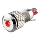8mm LED 표시기 방수 니켈에 의하여 도금되는 금관 악기 표시등
