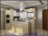 """Gabinetes de cozinha da melamina do Woodgrain (4 ' x 8 """")"""