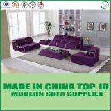 現代北欧の家具の居間のコーナーのソファーファブリックソファー