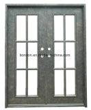 Segurança Straight Flat Top Custom Iron Front Entry Door