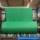 Tela tecida tubular verde do Polypropylene no rolo