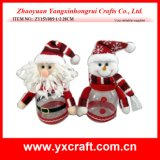 クリスマスの装飾(ZY16Y096-1-2 26CM)のクリスマスの記憶のびんの膨脹可能なクリスマス