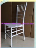 Una pieza monobloque de resina blanca silla Chiavari