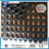 Qingdao-bunte blockierenfett-beständige Gummiloch-Matte für Küchen