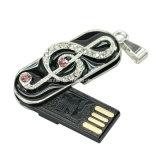 Bijoux USB Memory Stick Metal Note de musique USB Flash Drive