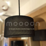 주문품 최고 급료 검정 금 겹켜 직물 예술 식당 펀던트 램프