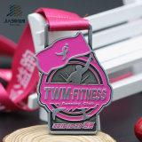 Lo smalto di riempimento di Deboss colora le medaglie correnti di maratona su ordinazione 5k