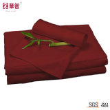 Il lenzuolo di bambù della fibra fissa il colore rosso
