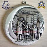 Марафон Medaillen поставкы 3D с античной отделкой, медалью спорта Cusotmized