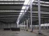 L'armature en acier préfabriquée assemblent l'entrepôt/atelier