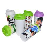 Venda por atacado Heat Transfer Printing Machine Sublimation Plastic Cup com tampa