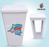 Estantería de cartón de publicidad de contador de colores para la urna