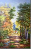 100 % Handmade Painting-Hunting d'huile sur toile