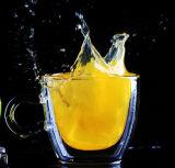 Чашка сока двойной стены Eco-Freindly стеклянная с ручкой