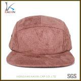 5 campos en blanco llano de encargo del casquillo y del sombrero del panel del ante