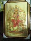 Золотая фольга Индии Бог изображения