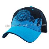 Gorra de béisbol del deporte de la tela cruzada del algodón del bordado de la impresión de pantalla (TMB0820)