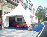 Tenda bianca del Pagoda della tela di canapa del PVC per il garage 5m*5m dell'automobile