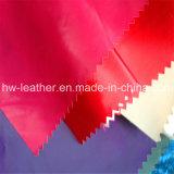 Apoio de viscose peça de vestuário em couro Pu-925 de hardware