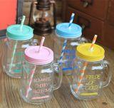 buntes Maurer-Glas der Glasflaschen-450ml für das kalte Trinken