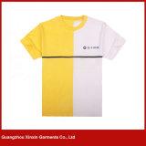 T-shirts lourds personnalisés de coton d'impression verte (R182)