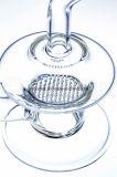 Tubulação de água de vidro dobrada único favo de mel do UFO da garganta