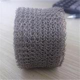 Treillis métallique tricoté par filtre tricoté par filtre gazeux liquide de treillis métallique de catégorie comestible, de gaz et de liquide