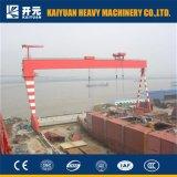 巨大なタイプ船建物のガントリークレーン
