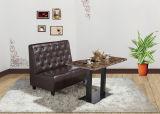 Sofa en cuir vert d'allocation des places de Banquette de restaurant (FOH-CBCK66)