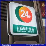 Signe extérieur de la Banque mur éclairé (GD-CLG)