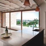 De houten Huid Afgedrukte Isolerende Deur van de Schommeling van het Aluminium van het Glas (voet-D126)