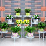 Soporte de flores de metal para interior y jardín