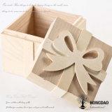 Hongdao natürliche Farbe gravieren Firmenzeichen-hölzernen verpackenablagekasten für Geschenk-Preis _E
