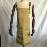 革が付いているカスタム男女兼用のアヒルのキャンバスの台所エプロン