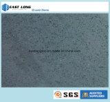 O cinza colore a laje artificial da pedra de quartzo para materiais de construção de superfície contínuos superiores do material da decoração da tabela do Countertop/da cozinha