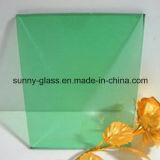 vetro tinto verde scuro X2140X3300 di 6mm per costruzione
