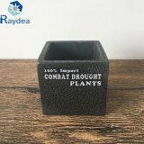 De zwarte Pot van het Cement van de Kleur Vierkante Mini voor Succulent