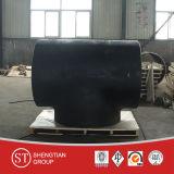 Instalación de tuberías negra de acero de carbón de la te