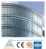 الصين مصنع إمداد تموين ألومنيوم قطاع جانبيّ لأنّ [كرتين ولّ] زجاجيّة