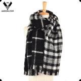 2017 El nuevo lado de doble cara de la cachemira de acrílico del estilo comprobó las mujeres de la bufanda de la tela escocesa