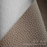 Tissu gravé en relief par polyester 100% de cuir de suède de Chammy pour le sofa