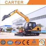Máquina escavadora hidráulica Multifunction quente do Backhoe da esteira rolante das vendas CT85-8b (8.5t)