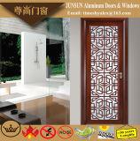 Madeira de almugue estilo chinês em alumínio de Grãos Porta Casement decorativas