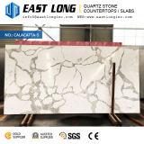 Personnalisés Aartificial 3200*1600 Calacatta Quartz Stone pour Vanity Tops