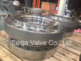 Válvula de bola de acero forjado API 3PC