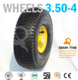 La carriola spinge la rotella di gomma 3.50-4 delle rotelle del camion di mano